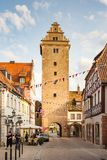 Tourists at the historic village of Volkach Royalty Free Stock Image