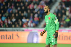 Volkan Babacan. PRAGUE 10/10/2015 _ Match of the EURO 2016 qualification group A Czech Republic - Turkey stock photos