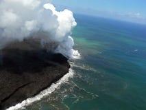 Volkano in Hawaï Stock Afbeelding