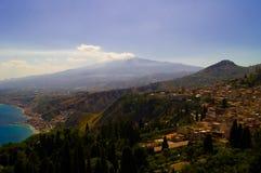 Volkano l'Etna Photographie stock