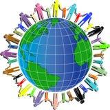 Volkeren en wereld royalty-vrije illustratie