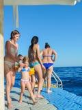 Volkeren het snorkelen Stock Foto