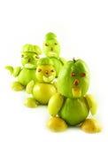 Volkeren van vruchten van kweeperen stock afbeelding