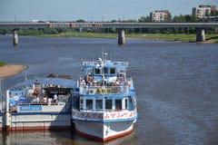 volkh 1155 de Rusia del río del novgorod de la ciudad de la arquitectura Fotos de archivo libres de regalías
