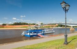 On the Volkhov river Royalty Free Stock Photography