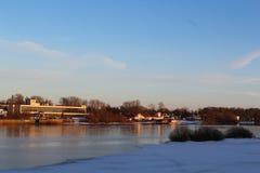 Volkhov River. Velikiy Novgorod Stock Photo