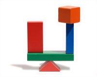 Volkomen evenwichtige houten blokken Royalty-vrije Stock Foto's