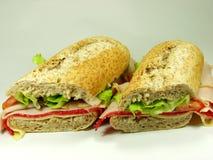 Volkoren sandwich royalty-vrije stock foto's