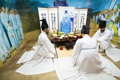 Volks het dorpsmuseum van Naganeupseongnagan in Korea royalty-vrije stock fotografie