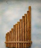 Volks houten panfluit Stock Fotografie