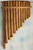 Volks houten panfluit Royalty-vrije Stock Foto