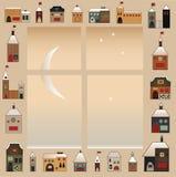 Volks Kerstmisvenster Royalty-vrije Stock Foto
