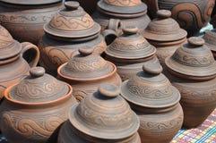 Volks kunst, aardewerk, potten Stock Foto's