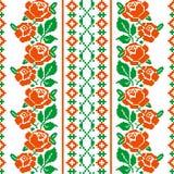 Volks stijl textielpatroon Stock Afbeelding