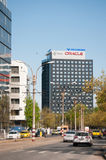 Volksbank and Oracle tower Royalty Free Stock Photography