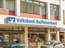 Volksbank Raiffeisenbank Stockfoto