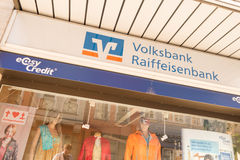 Volksbank Raiffeisenbank easy credit Stock Image