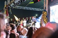 Volksdans en Muziekfestival stock foto's