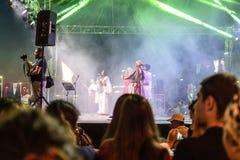 Volksdans en Muziekfestival stock afbeeldingen