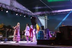 Volksdans en Muziekfestival royalty-vrije stock afbeeldingen