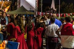 Volksdans en Muziekfestival stock afbeelding