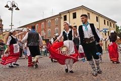 Volksdansensemble van Calabrië, Italië Stock Foto