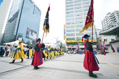 Volksfeiern in Seoul Stockfotos
