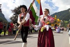 Volksfest van Ladina, Noord-Italië Royalty-vrije Stock Afbeelding