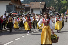 Volksfest van Ladina, Noord-Italië Stock Foto's
