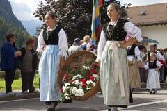 Volksfest van Ladina, Noord-Italië Stock Afbeeldingen