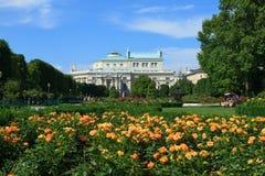 Volksgarten公园在维也纳,奥地利 免版税库存图片
