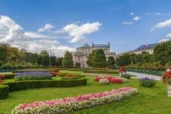 Volksgarten在维也纳,奥地利 库存照片