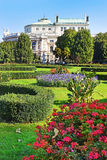 Volksgarten and Burgtheater in Inner Stadt Vienna, Austria Stock Photos