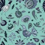 Volksgarten Mondschein-im nahtlosen Vektor-Muster Stockbild