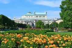 Volksgarten park in Vienna Royalty Free Stock Images