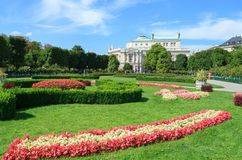 Volksgarten parkerar i Wien Arkivfoton