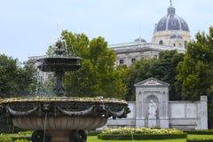 Volksgarten parkowa i pomnikowa poeta Franz Grillparzer Obrazy Royalty Free