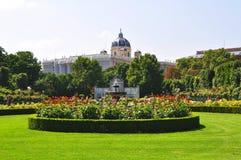 Volksgarten & x28; People& x27; s Garden& x29;在维也纳 库存照片