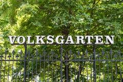 Volksgarten (People's Garden) Park In Vienna Royalty Free Stock Photography