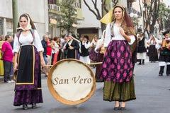 Volksgruppe von San Vero Stockfotos