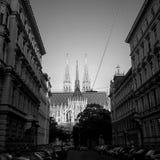 Volkskirche folkets kyrka, Wien, Österrike Royaltyfria Foton