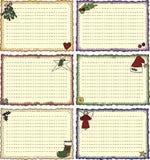 Volkskunst-Feiertags-Rezept-Karten Stockbild