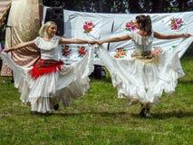 Volksrituale erbringen Verbesserungen in der Gomel-Region des Republik Belarus im Jahre 2015 Stockbild