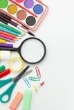 Volksschule-Ausrüstung Lizenzfreie Stockbilder