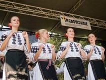 Volkstänzer in den traditionellen Kostümen lizenzfreie stockfotografie