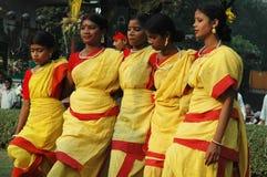 Volkstanz in Indien Stockfotografie