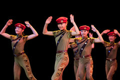 Volkstanz: kleiner weiblicher Krieger Phasen- Lizenzfreie Stockbilder