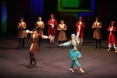 Volkstanz am Konzert Gennady Ledyakh der Schule Lizenzfreie Stockbilder