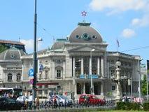 Volkstheater historisk byggnad, Wien, Österrike Fotografering för Bildbyråer