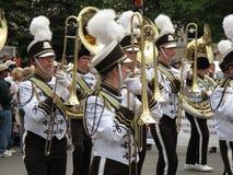 Volkstrauertag-Parade-Blaskapelle Stockbild